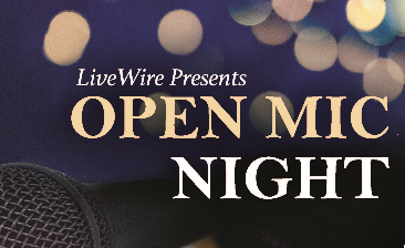 Graphic for open mic night