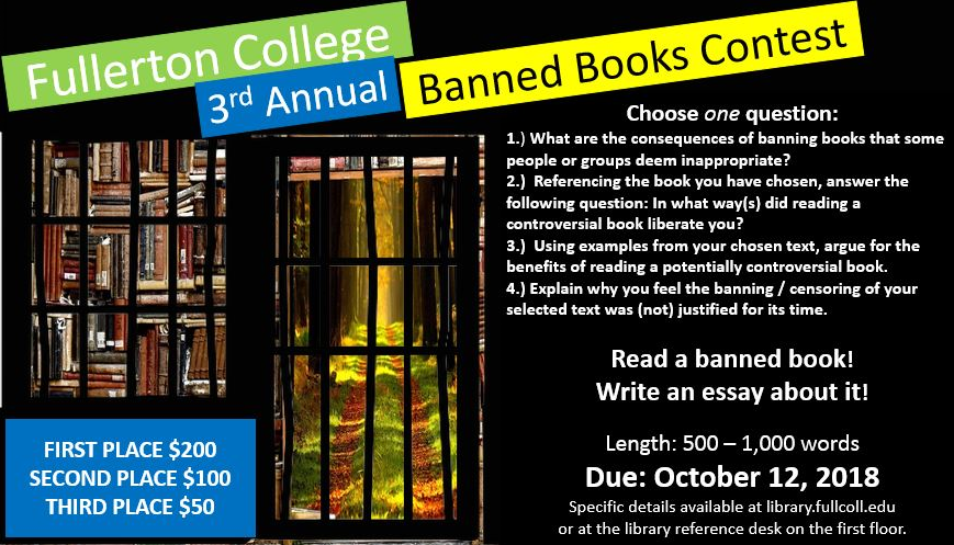 Flyer for Banned Books Essay Contest