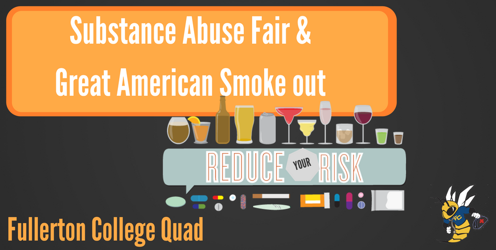 Substance Abuse Fair & Great American Smokeout flyer
