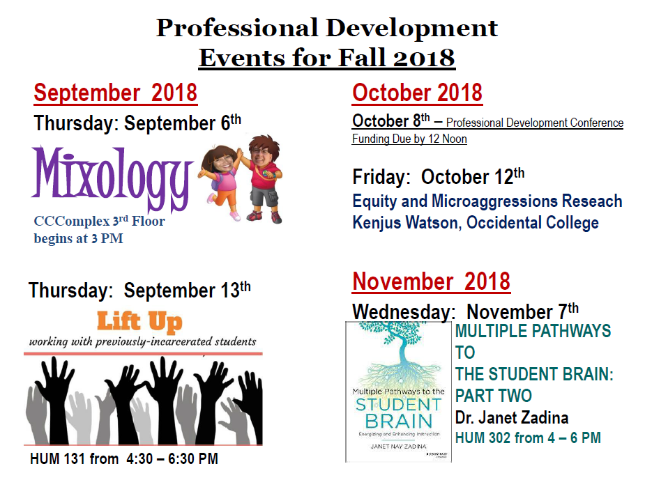 NOCCCD Professional Development Events