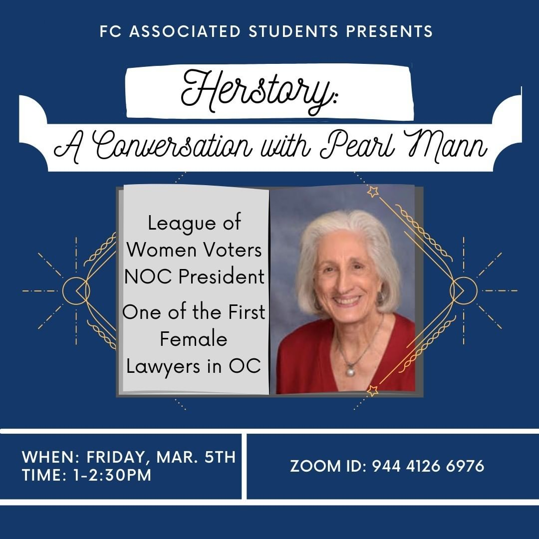 Herstory: A Conversation with Pearl Mann event flyer